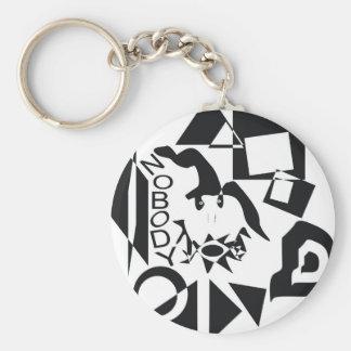 Nobody Basic Round Button Keychain