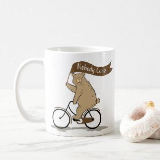 Nobody Cares Bear, Funny, Animal Humour Coffee Mug