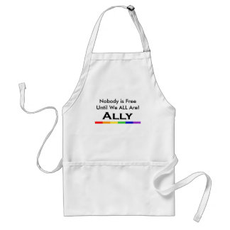 Nobody is Free Ally Aproon Standard Apron