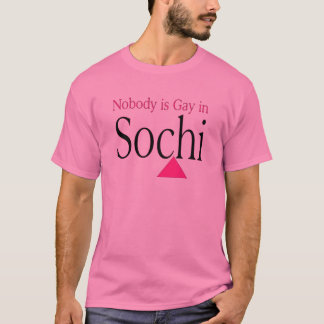Nobody is Gay in Sochi T-Shirt
