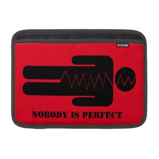 Nobody is perfect MacBook sleeves