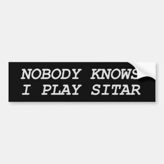 Nobody Knows I Play Sitar Bumper Sticker