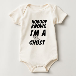Nobody Knows I'm A Ghost design Baby Bodysuit