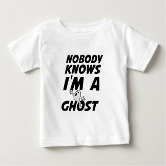 Nobody Knows I'm A Ghost design Baby T-Shirt