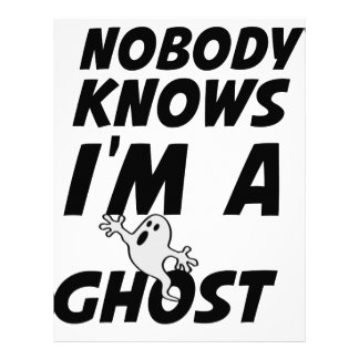 Nobody Knows I'm A Ghost design Custom Letterhead