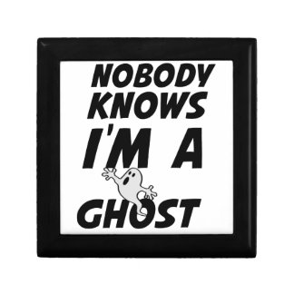 Nobody Knows I'm A Ghost design Gift Box