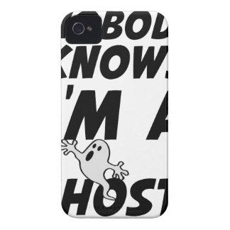 Nobody Knows I'm A Ghost design iPhone 4 Case-Mate Case