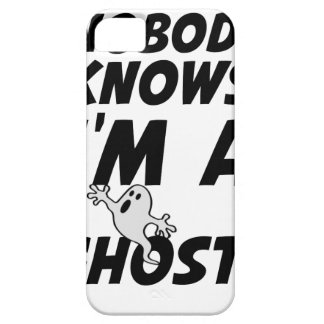 Nobody Knows I'm A Ghost design iPhone 5 Case