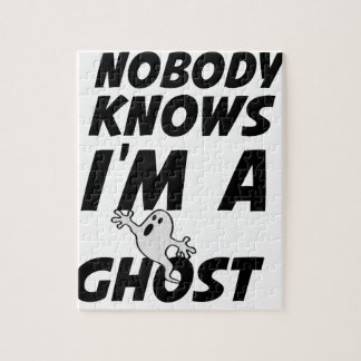 Nobody Knows I'm A Ghost design Jigsaw Puzzle