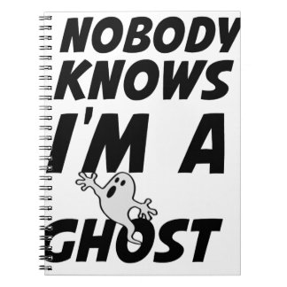 Nobody Knows I'm A Ghost design Notebooks