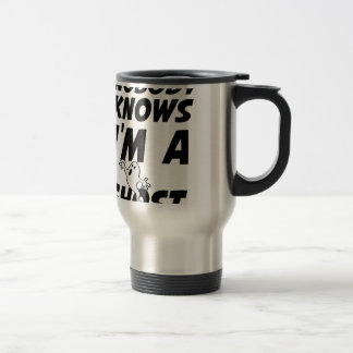 Nobody Knows I'm A Ghost design Travel Mug