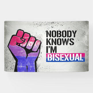 Nobody Knows I'm Bisexual - - LGBTQ Rights -  Banner