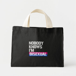 Nobody Knows I'm Bisexual - - LGBTQ Rights -  - .p Mini Tote Bag