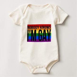 Nobody Knows I'm Gay Baby Bodysuit