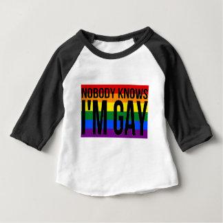 Nobody Knows I'm Gay Baby T-Shirt