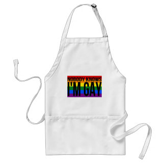 Nobody Knows I'm Gay Standard Apron