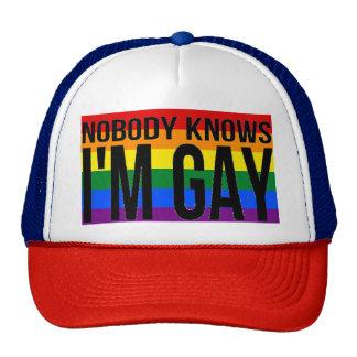 Nobody Knows I'm Gay Trucker Hat
