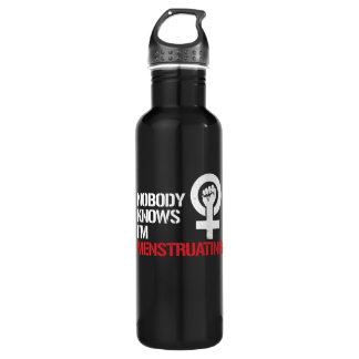Nobody Knows I'm Menstruating --  white - 710 Ml Water Bottle