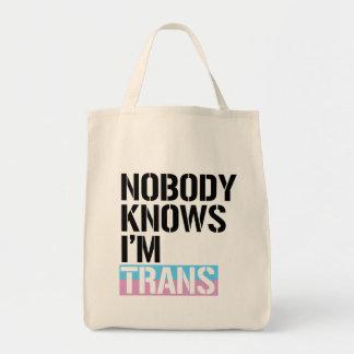 Nobody Knows I'm Trans - -  Tote Bag