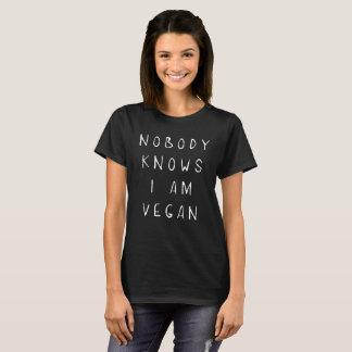 Nobody Knows I'm Vegan Vegetarian Funny Tee