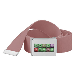 nobody knows in chemical elements belt