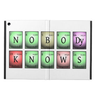 nobody knows in chemical elements case for iPad air