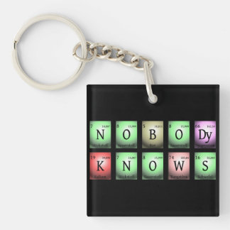 nobody knows in chemical elements Double-Sided square acrylic keychain