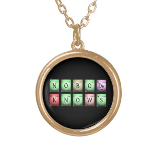 nobody knows in chemical elements gold plated necklace