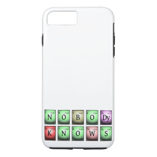 nobody knows in chemical elements iPhone 8 plus/7 plus case