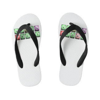 nobody knows in chemical elements kid's flip flops