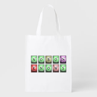 nobody knows in chemical elements reusable grocery bag