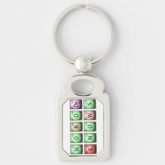 nobody knows in chemical elements Silver-Colored rectangle keychain