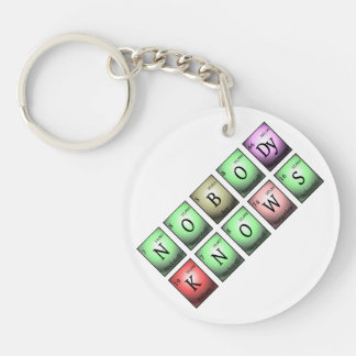 nobody knows in chemical elements Single-Sided round acrylic keychain