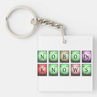 nobody knows in chemical elements Single-Sided square acrylic keychain