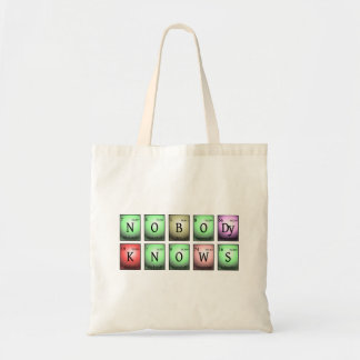 nobody knows in chemical elements tote bag