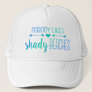 Nobody Likes Shady Beaches | Ombre Turquoise Hat