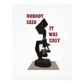 Nobody said it was easy letterhead