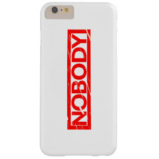 Nobody Stamp Barely There iPhone 6 Plus Case