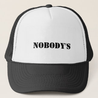 nobody's trucker hat
