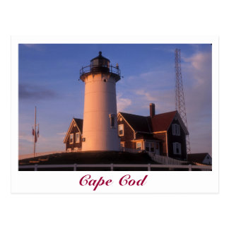 Nobska Lighthouse Cape Cod Woods Hole Falmouth Postcard