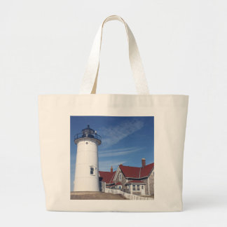 Nobska Lighthouse Large Tote Bag