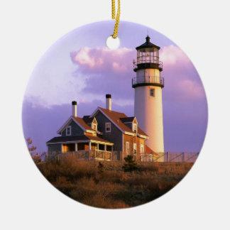 Nobska Point Lighthouse Ceramic Ornament