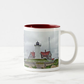 Nobska Point Lighthouse Series Two-Tone Coffee Mug