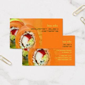 Nobu Gourmet Sushi catering business Business Card