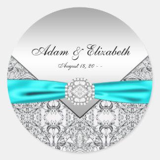 Noces de diamant bleues turquoises