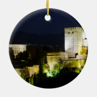 Nocturnal Alhambra adornment Ceramic Ornament