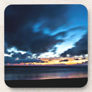 Nocturnal Cloud Spectacle on Danish Sky Beverage Coasters