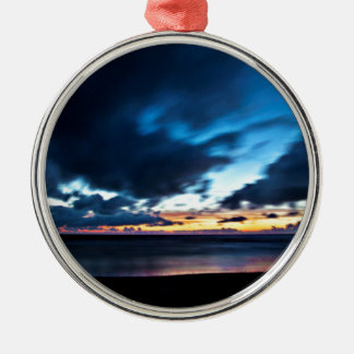 Nocturnal Cloud Spectacle on Danish Sky Silver-Colored Round Ornament
