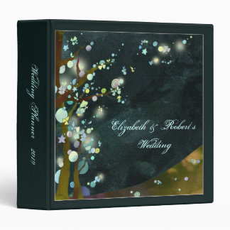 Nocturnal Elven Forest Wedding Planner Vinyl Binders