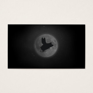 nocturnal flying pig business card
